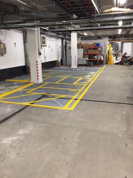 Internal Basement Car Park Markings City Of London Lewis